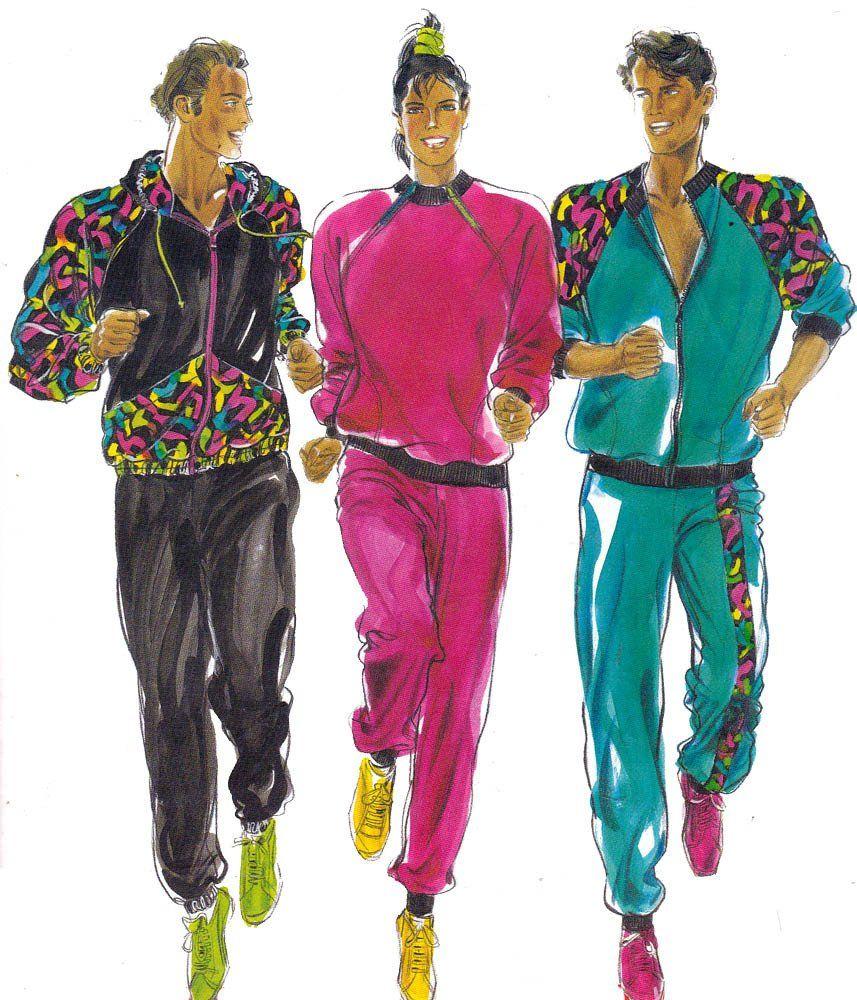 80s Retro UNISEX Tracksuit Jogging Suit Pattern Burda 5298 Size 36 ...