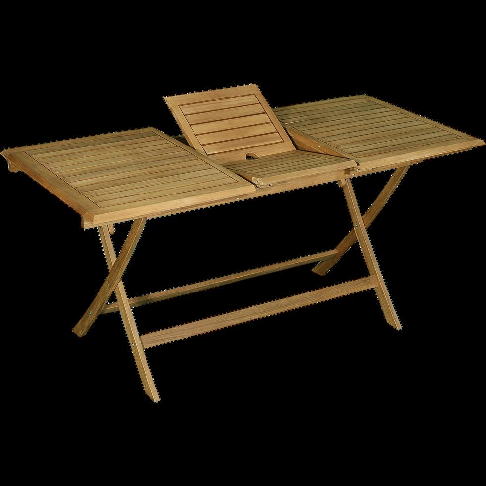 Table De Balcon Extensible Pliante En Acacia 6 A 8 Places
