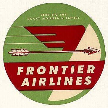 9bddd9f3f9 Amazing vintage logo for frontier airlines