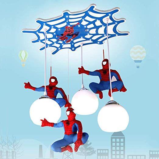 Modern Kronleuchter LED SpiderMan Kinderzimmer Stoff