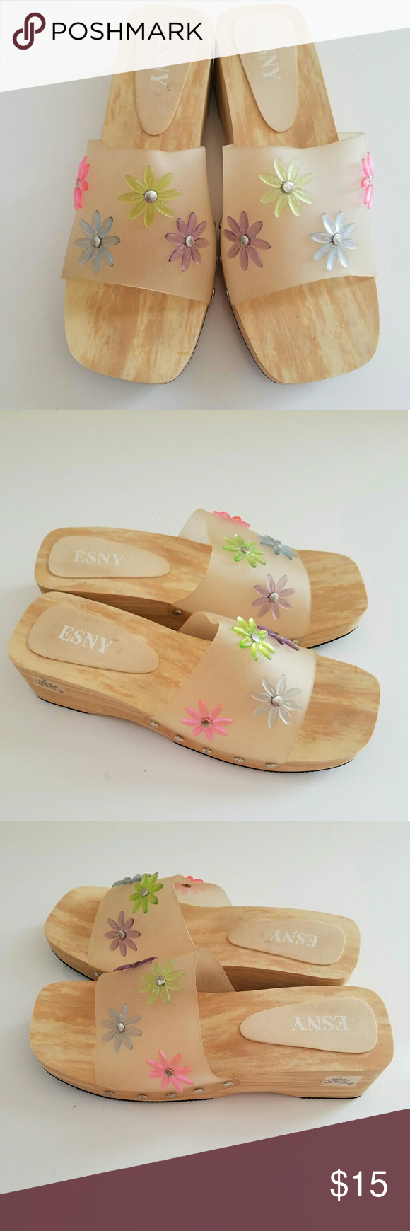 841a345afad04 ESNY Flower Clog Platform Beach Slides Shoes ESNY Women s NEW Flower Clog  Platform Casual Summer Beach