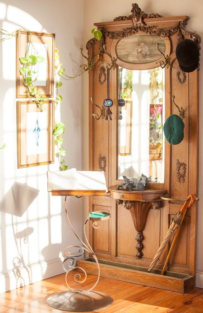 Antiguo perchero decoraci n mueble recibidor muebles y recibidor - Mueble perchero entrada ...
