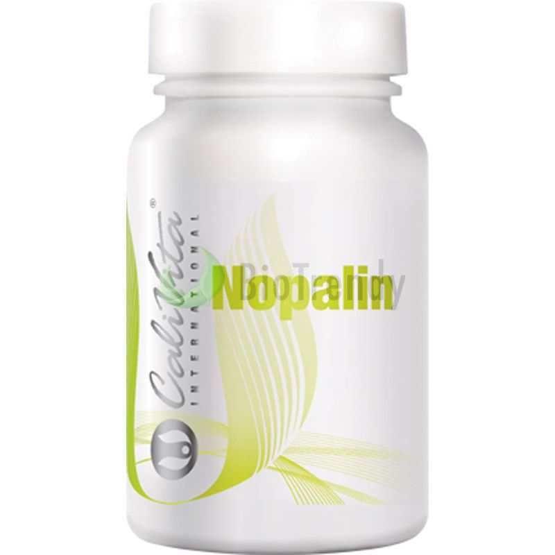 CaliVita Nopalin to suplement diety w formie tabletek zawierający wyciąg z kaktusa Nopal (opuntia ficus indica), który jest bogatym źródłem witamin (A, B1, B2, B3 i C), bioflawnoidów (utrzymanie sprawności i dobrego zdrowia), składników mineralnych (żelazo, krzem, potas, sód, wapń, magnez) oraz błonnika (wspomagającego trawienie I ułatwiającego wypróżnianie się). Link: http://www.biotrendy.pl/produkt/calivita-nopalin-tabletki-na-oczyszczanie-organizmu/