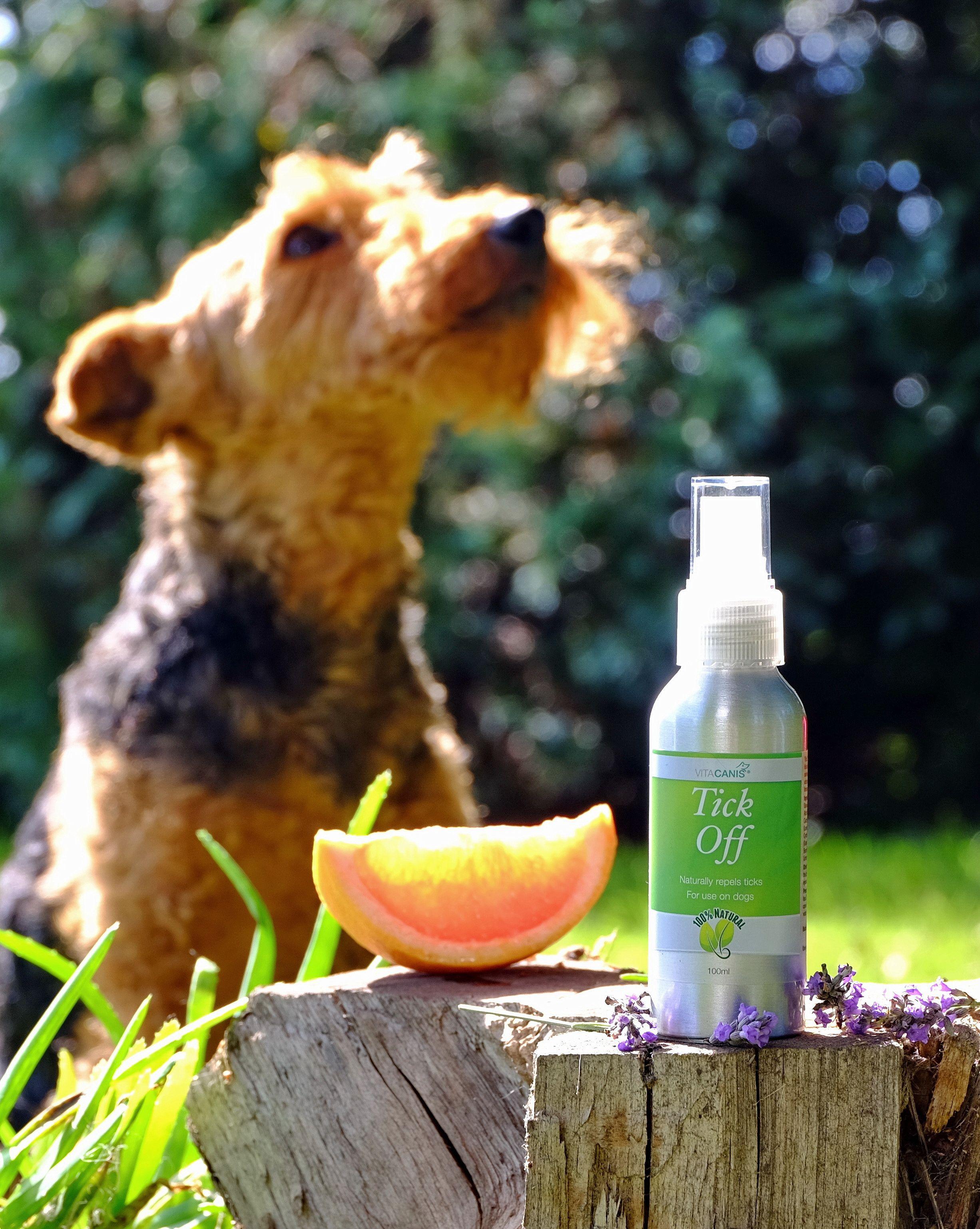 Vita Canis Tick Off contains high quality essential oils