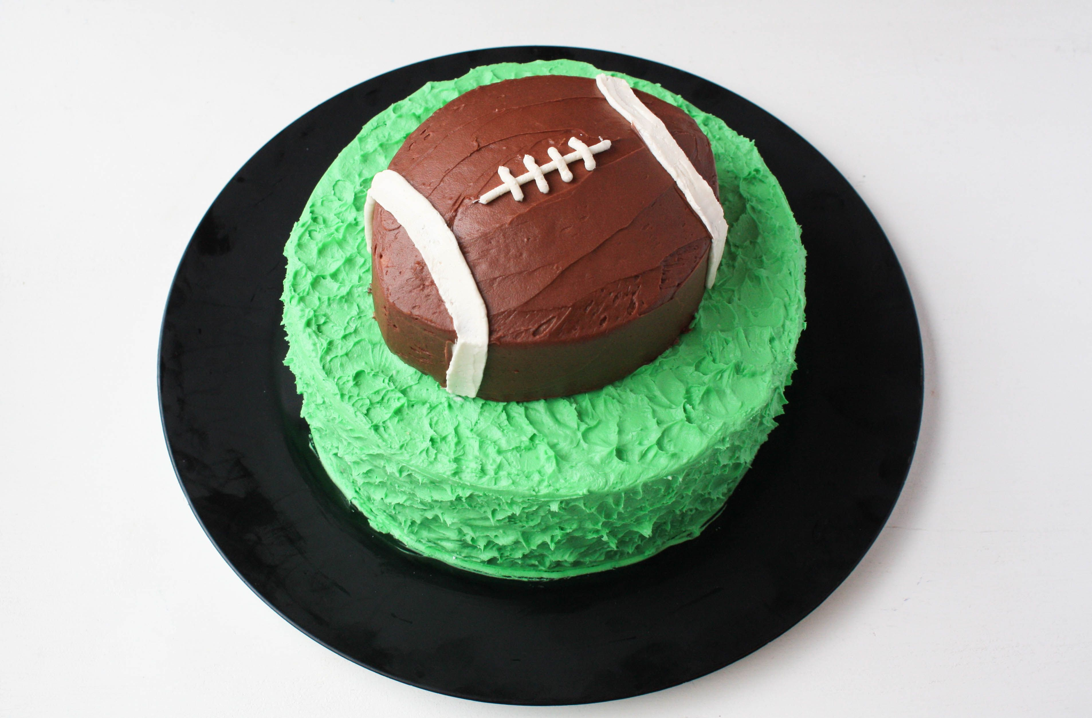 Score Big With A Seriously Simple Football Cake With Images