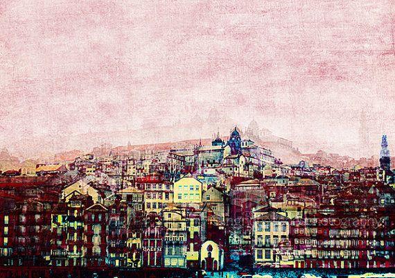 City Skyline City Photography Porto City Print Portugal Etsy Urban Wall Art City Prints City Art