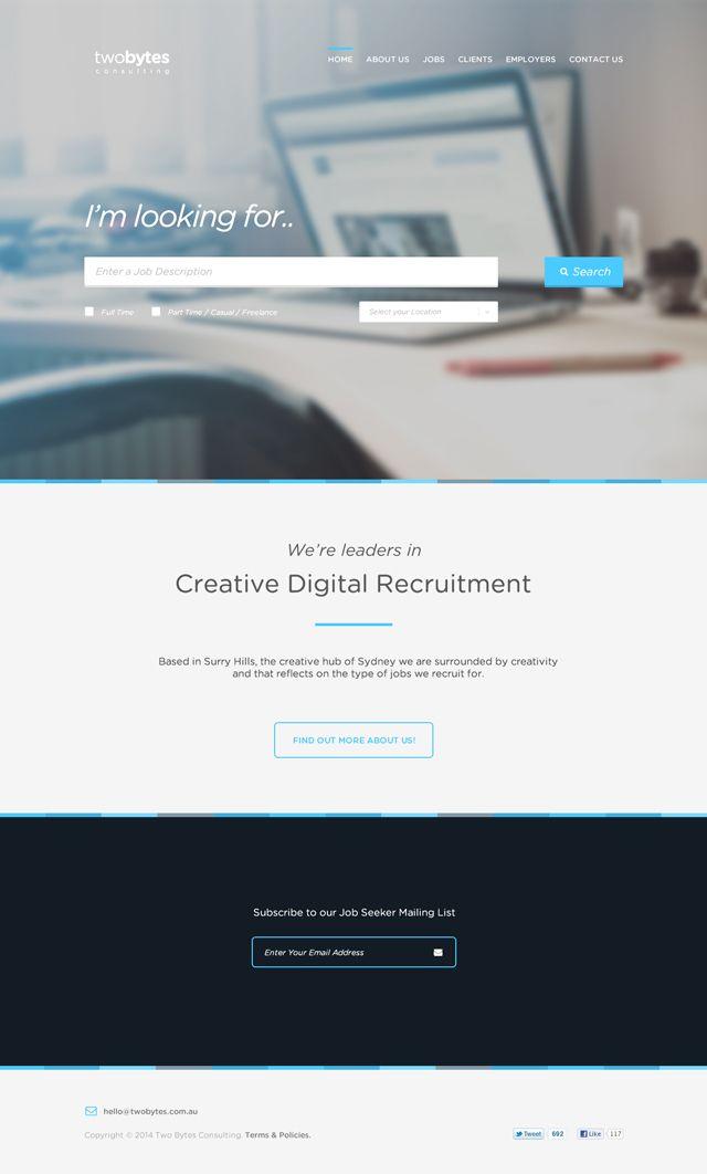 TwoBytes - Free PSD Website Template. | Элементы Веб-дизайна ...