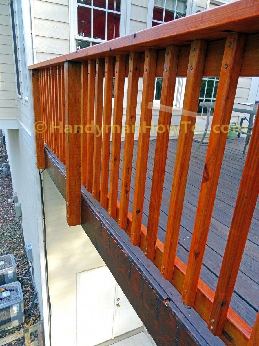 Build Deck Rail 2x2 Pickets Detail Pricetobuildadeck Deck Railings Diy Deck Building A Deck