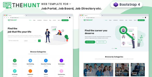 thehunt is high quality job portal job listing job directory job