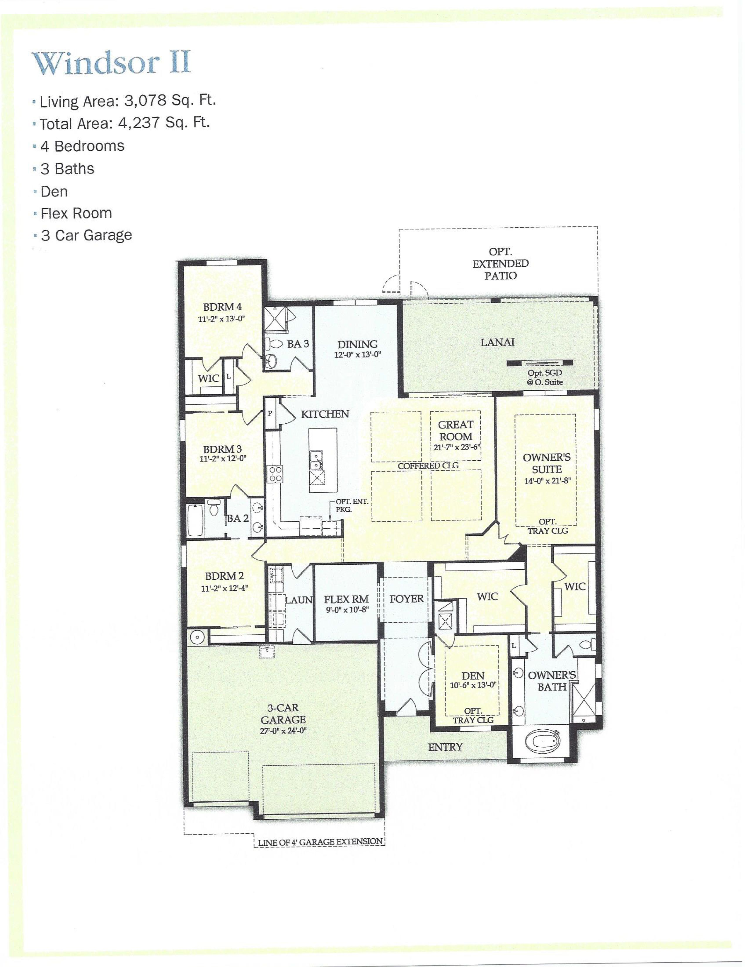 Windsor Ii Floor Plan Camden Lakes Naples Fl Naples Real Estate Flex Room Naples Fl