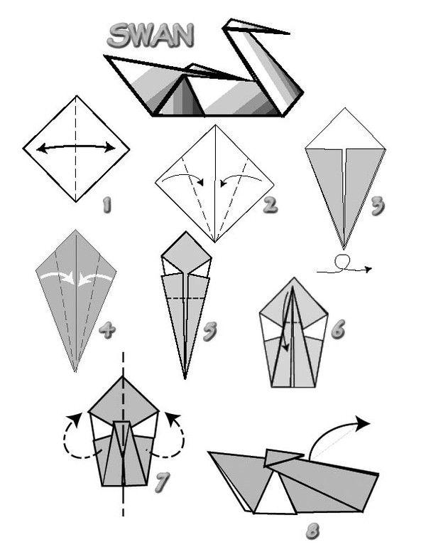 Про свекровь, картинки как сделать лебедя из бумаги