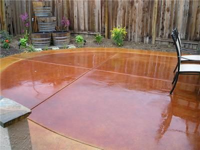 Wet, Red, Oval Concrete Patios Rhodes Landscape Design, Inc Rio ...