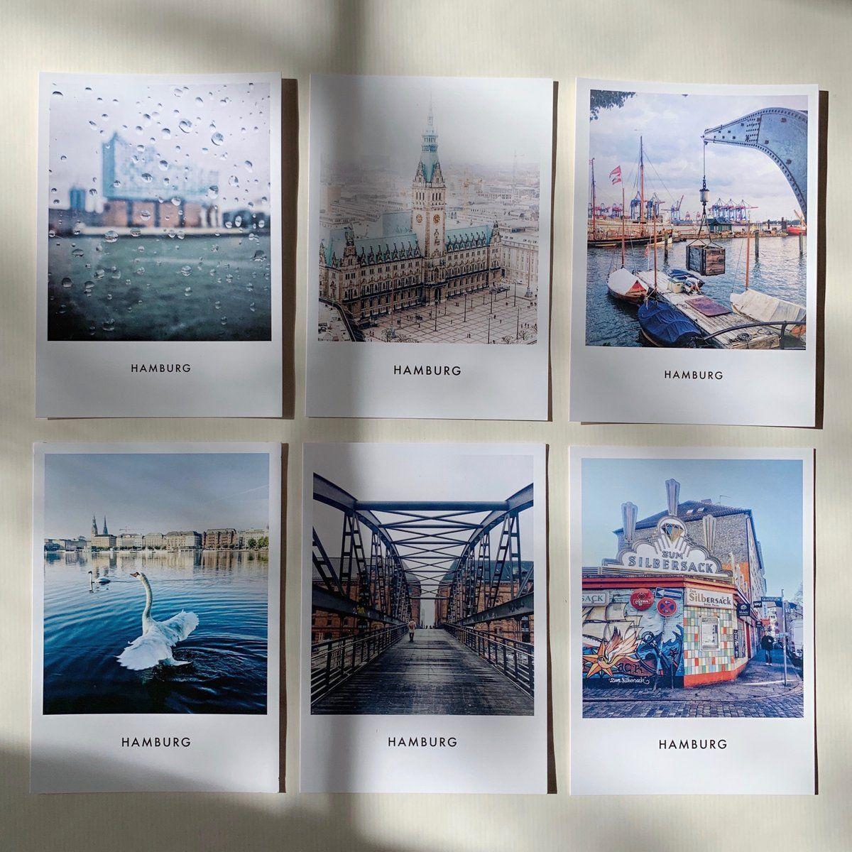 Hamburg Postkarten Set Kiek Mol Mit Schonem Stander Aus Eiche