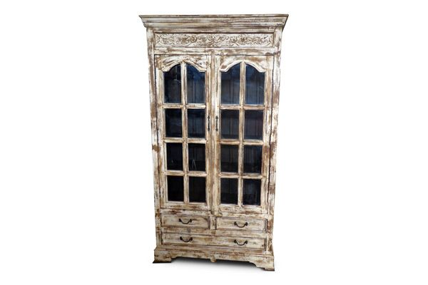 A028 Almirah Wooden & Glass by Porter Intl Designs #porterintl