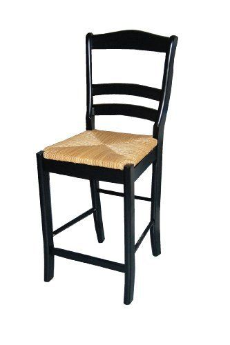 TMS 24-Inch Paloma Stool, Black by Target Marketing Systems. $80.99. Bar stools. Contempory style. Bar stool with rush seats. Constructed of hardwood frame. Some assembly required. Slat-back barstool. Woven rush seats for added comfort. Constructed of sturdy rubberwood . Available in 24-Inch or 30-Inch H in colors black, blue, red or vanilla. Some assembly required.. Save 26%!
