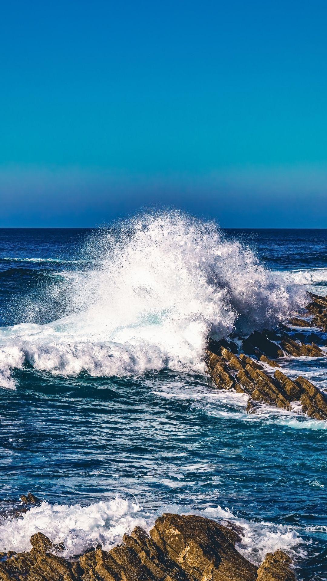 Water Splashes Sea Waves Coast Rocks Wallpaper Ocean Wallpaper Sea Waves Waves Wallpaper beach sea waves rocks coast