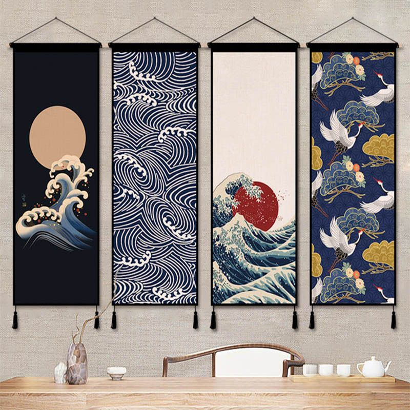 Japan Ukiyoe Hanging Scroll Painting Canvas Posters And Prints Wall Art Wall Pictures For Living Room Japanese Wall Art Wall Art Pictures Scandinavian Wall Art