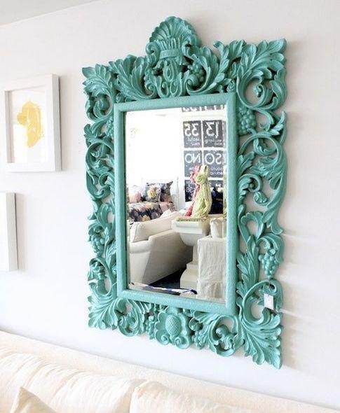 espejos de pared vintage decorando espejos ideas para manualidades turquoise