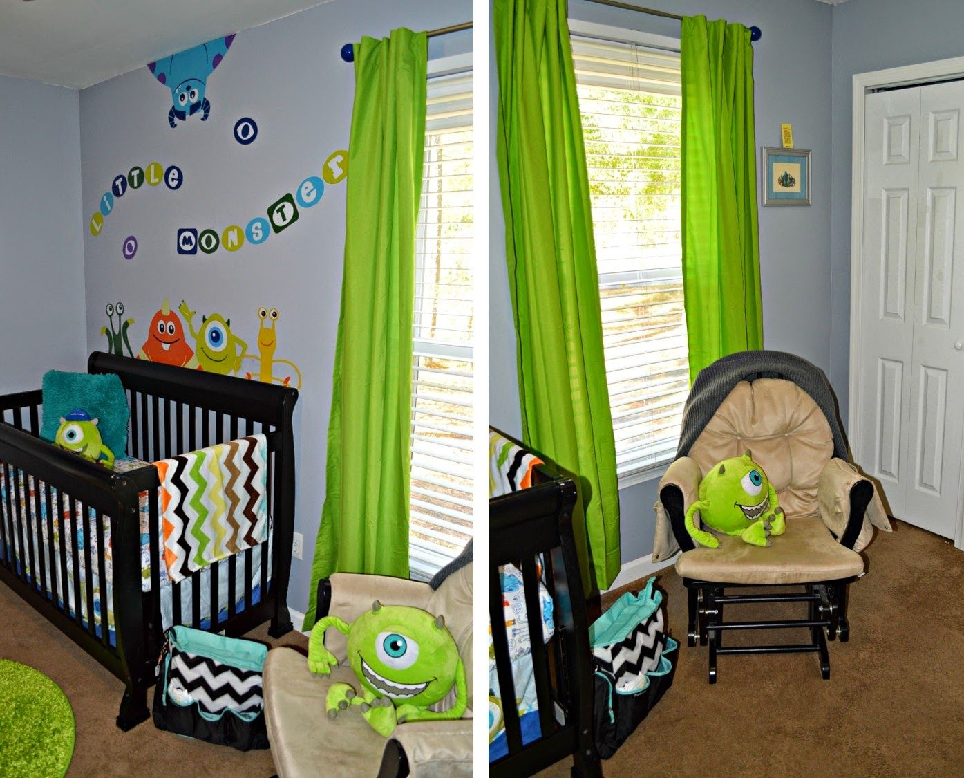 Baby Boy Nursery Tour: Disney Baby, Monsters, Inc. Theme