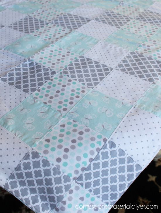 f4d00295d5260 How to Make a Baby Quilt from Receiving Blankets | baby shower ...