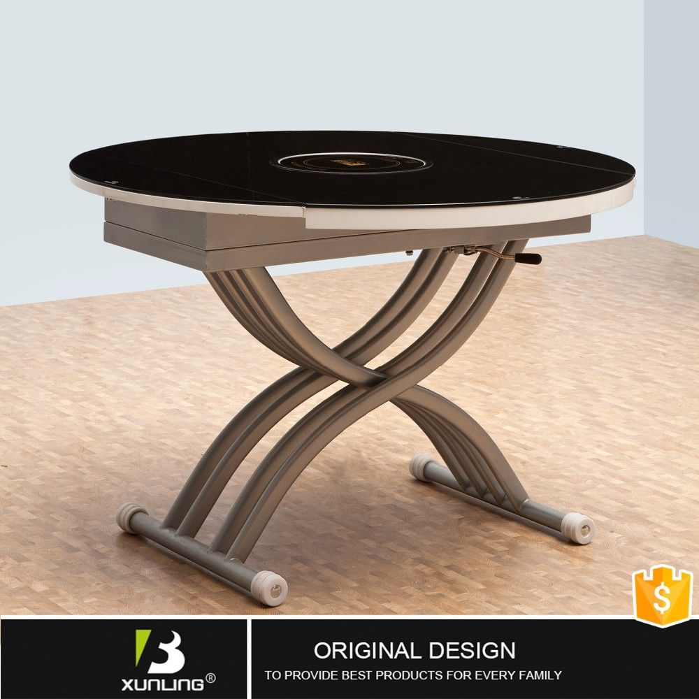 Stainless Steel Round Glass Coffee Table Multifunction Diy Tea Table Coffee Table Diy Convertible Coffee Table Tea Table Oval Coffee Tables [ 1000 x 1000 Pixel ]