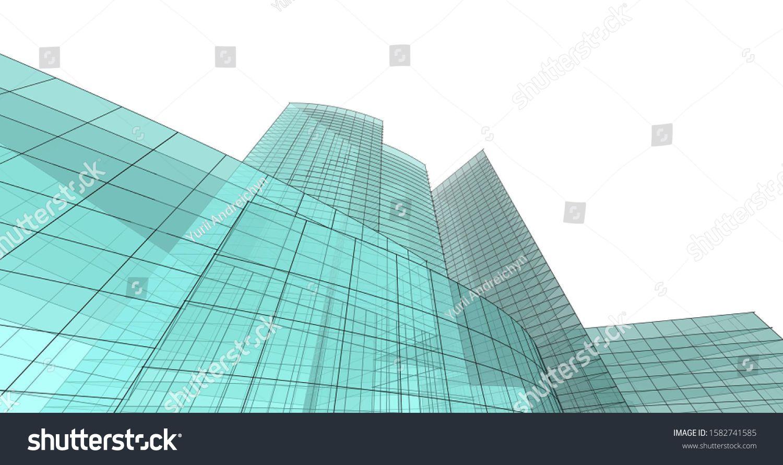 Modern Building Architecture 3d Illustration Ad Affiliate Building Modern Illustration Architecture In 2020 Architecture Building Modern Buildings Building