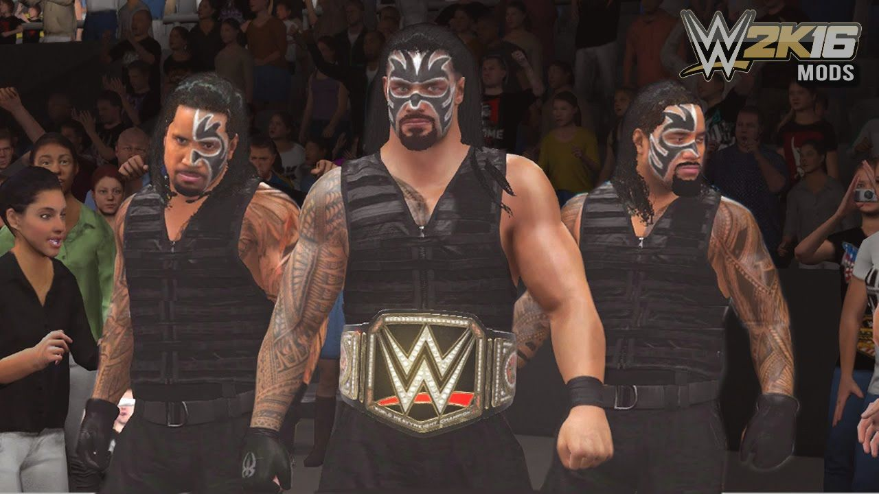 WWE 2K16 Mods - Roman Reigns Forms The Samoan Shield With