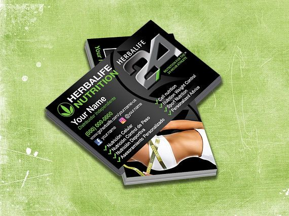 herbalife business cards 1000 cards full color front and