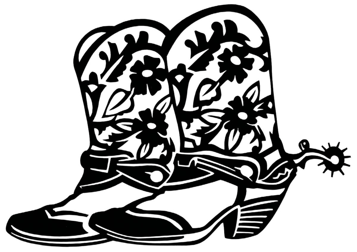 hight resolution of printable cowboy boot clipart