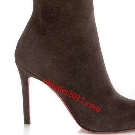 Discount Christian Louboutin Boots Simple Botta 100mm Brown