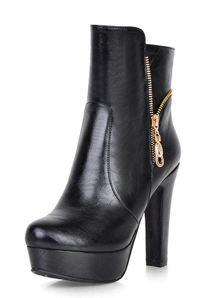 ac7f4ffa9 Aisun Women's Stylish Round Toe Double Side Zipper Dress Platform Booties  Chunky High Heel Ankle Boots Shoes >>> Click on the image for additional  details.