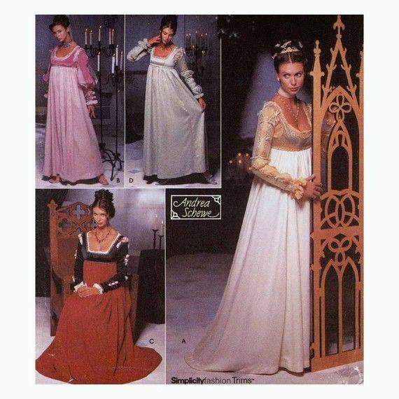 Renaissance Kleid Hochzeit Kleid Schnittmuster Simplicity 9531 ...