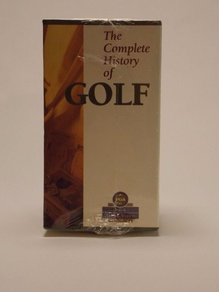 Vintage Golf Video's 1991 Complete History Of Golf (4) VHS Video Set NEW Sealed  #PGAMPI