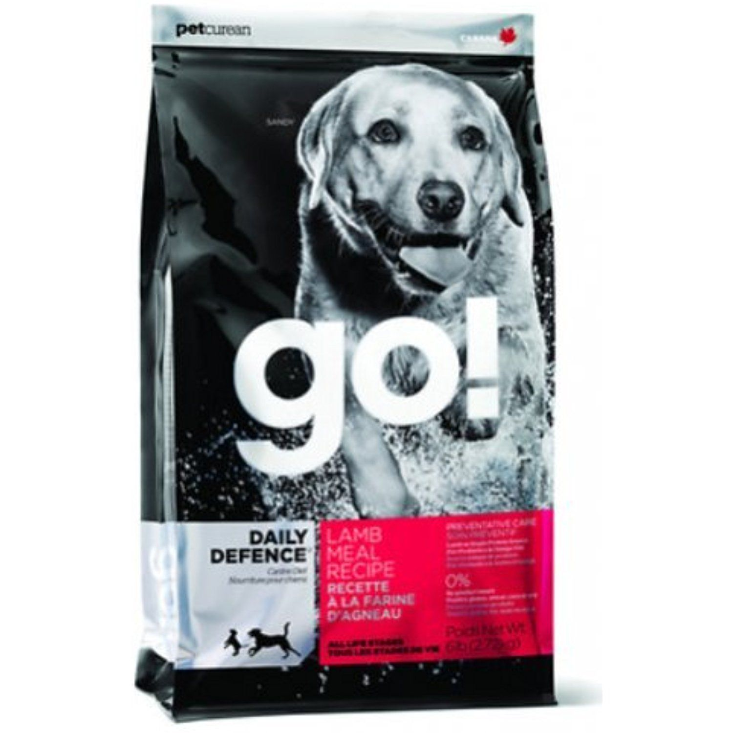 Go! DAILY DEFENCE Lamb Meal Recipe Dry Dog Food 25lb