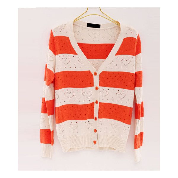 Colorful Stripes with Sweet Heart Sweater$0.00 via Polyvore