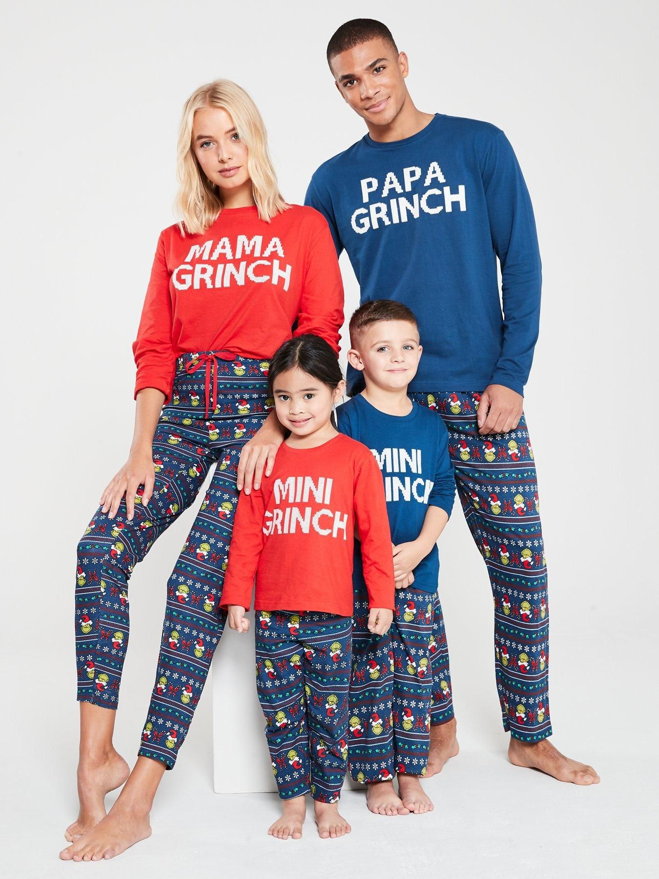 V By Very Mama Grinch Family Christmas Pj Set Red/Navy
