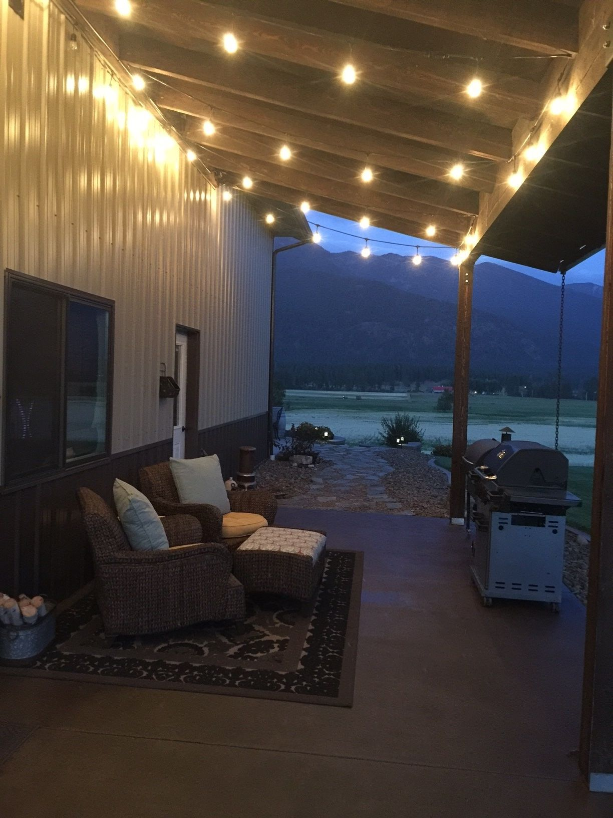 Pole Barn Shop Interior Ideas : interior, ideas, Style, Concrete, Patio, Direct, Colors, Barn,, Building, Homes