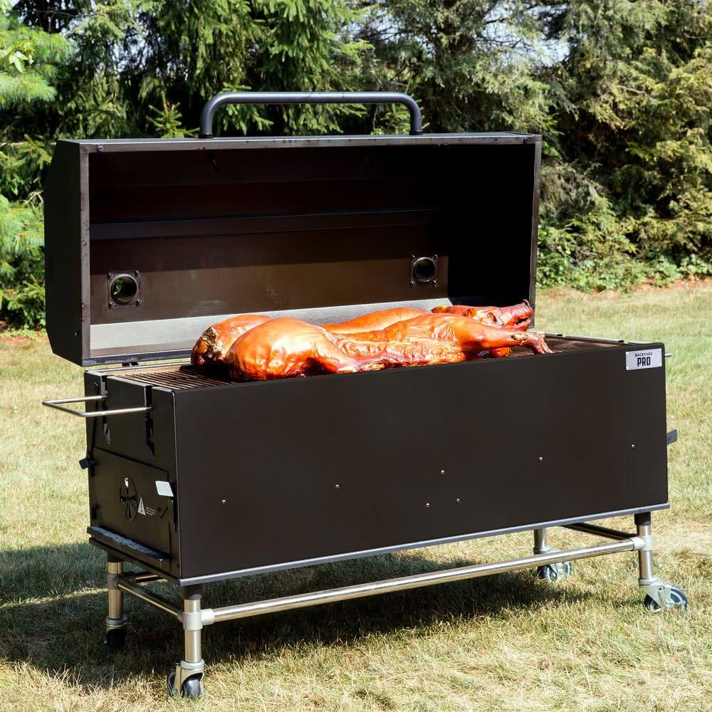 "backyard pro 60"" charcoal / wood smoker | wood smokers and outdoor"