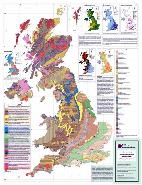 Engineering geology maps physical properties and for Soil and geology