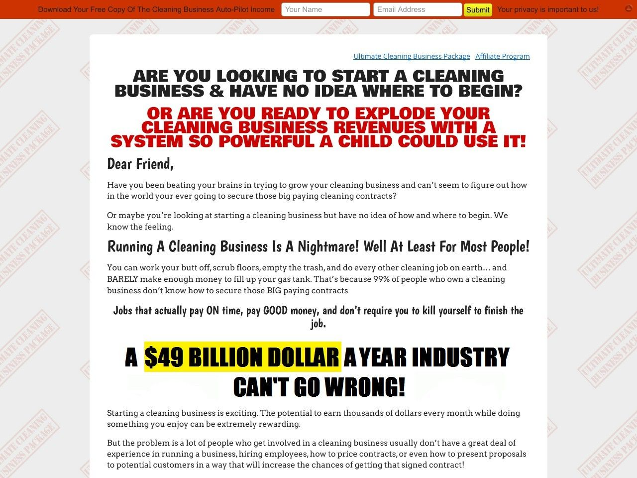 Ultimate Cleaning Business Package Bidding  Pricing Software