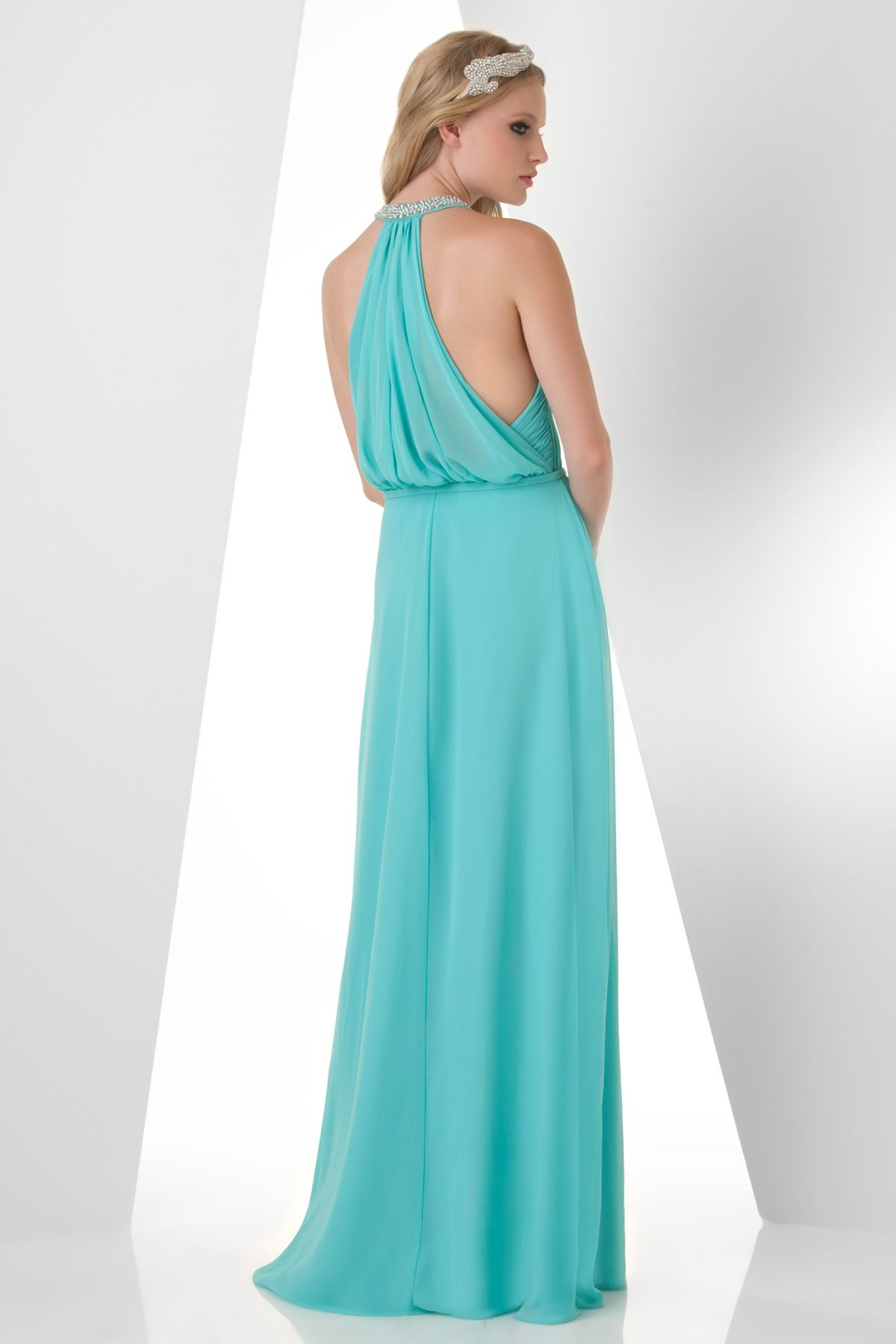 Back of the Bari Jay halter dress - elegant, classy & unique. Love ...