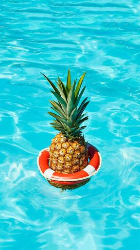 Pineapple Pool iPhone Wallpaper Iphone wallpaper