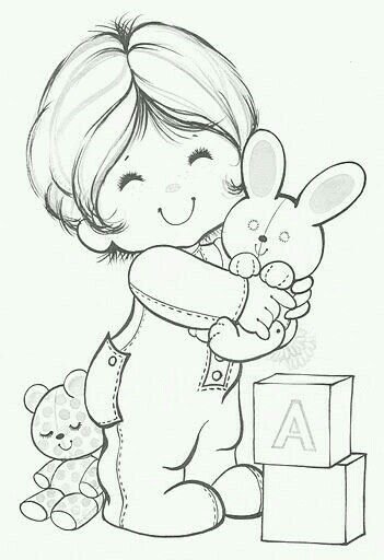 Cute Baby Girl Coloring Page Coloring Pictures Coloring Books Coloring Pages