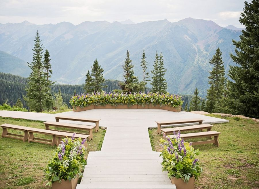 The Little Nell Aspen Mountain Wedding Deck, Aspen