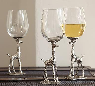 Giraffe Stem Wine Glass