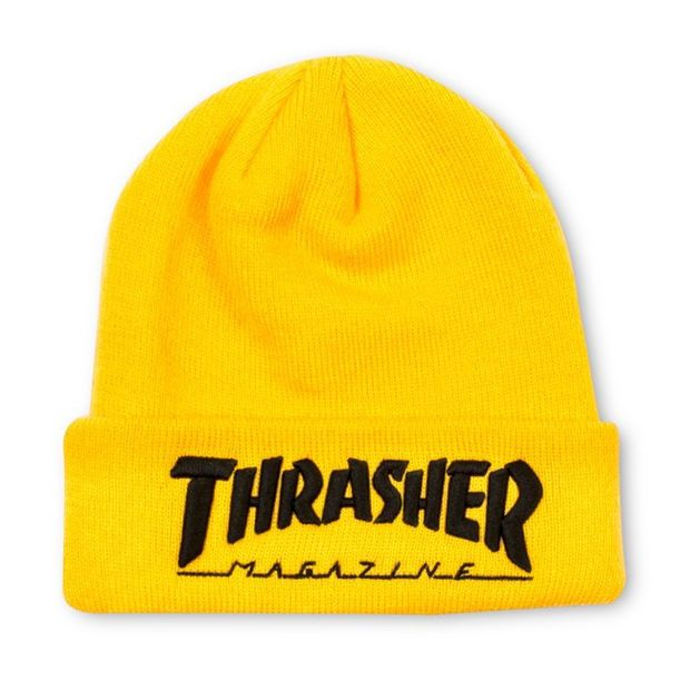 58eddd9aa Thrasher Magazine Yellow Beanie | Wanelo in 2019 | Yellow beanie ...