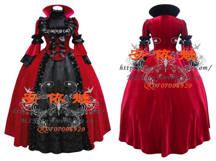 New Arrival Custom Made Gothic Victorian Ball Gowns Luxury Dress ...