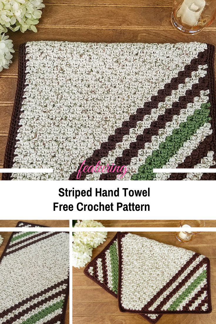 Thick And Lush Striped Hand Towel [Free Pattern | stuff to print for ...