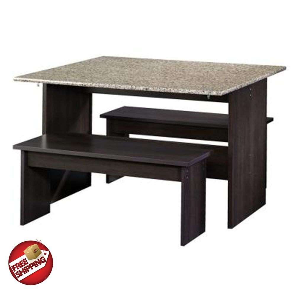 Modern Dining Table Coctail Bench Drop Leaf Furniture Wood Cinnamon Cherry  Tight #Modern