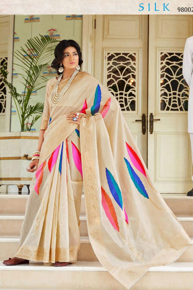 Beige Festive Wear Weaved Silk Saree Album No 1053 Saree Fabric Silk Blouse Fabric Silk Rate 2860INR Free Shipping In India For Order Please Inbox shipping